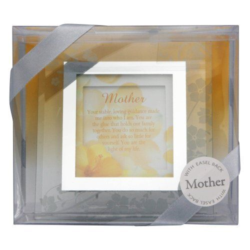 Gift For Mom Glass Frame With Message For Mom Wall Hanging With