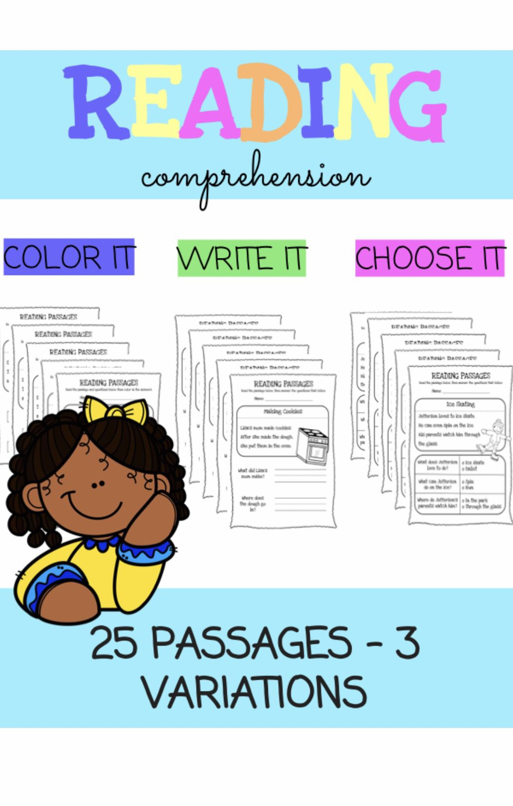 No Prep Reading Comprehension Passages With Questions K