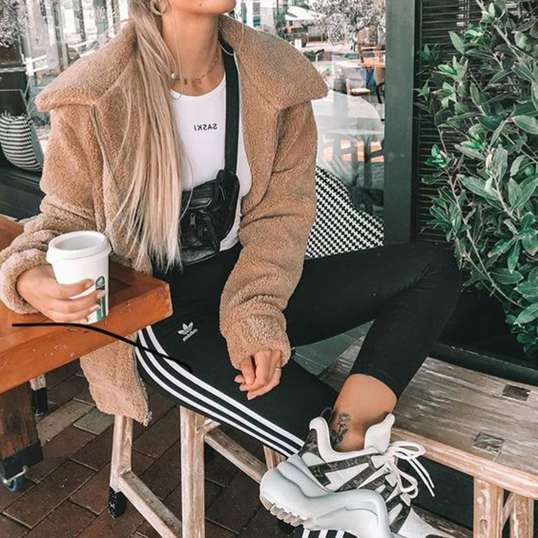 Aurora Popular Oversized Soft Comfy Sherpa Teddy Jacket Pixie Coat Sporty Outfits Outfits With Leggings Comfy Outfits [ 1080 x 1080 Pixel ]