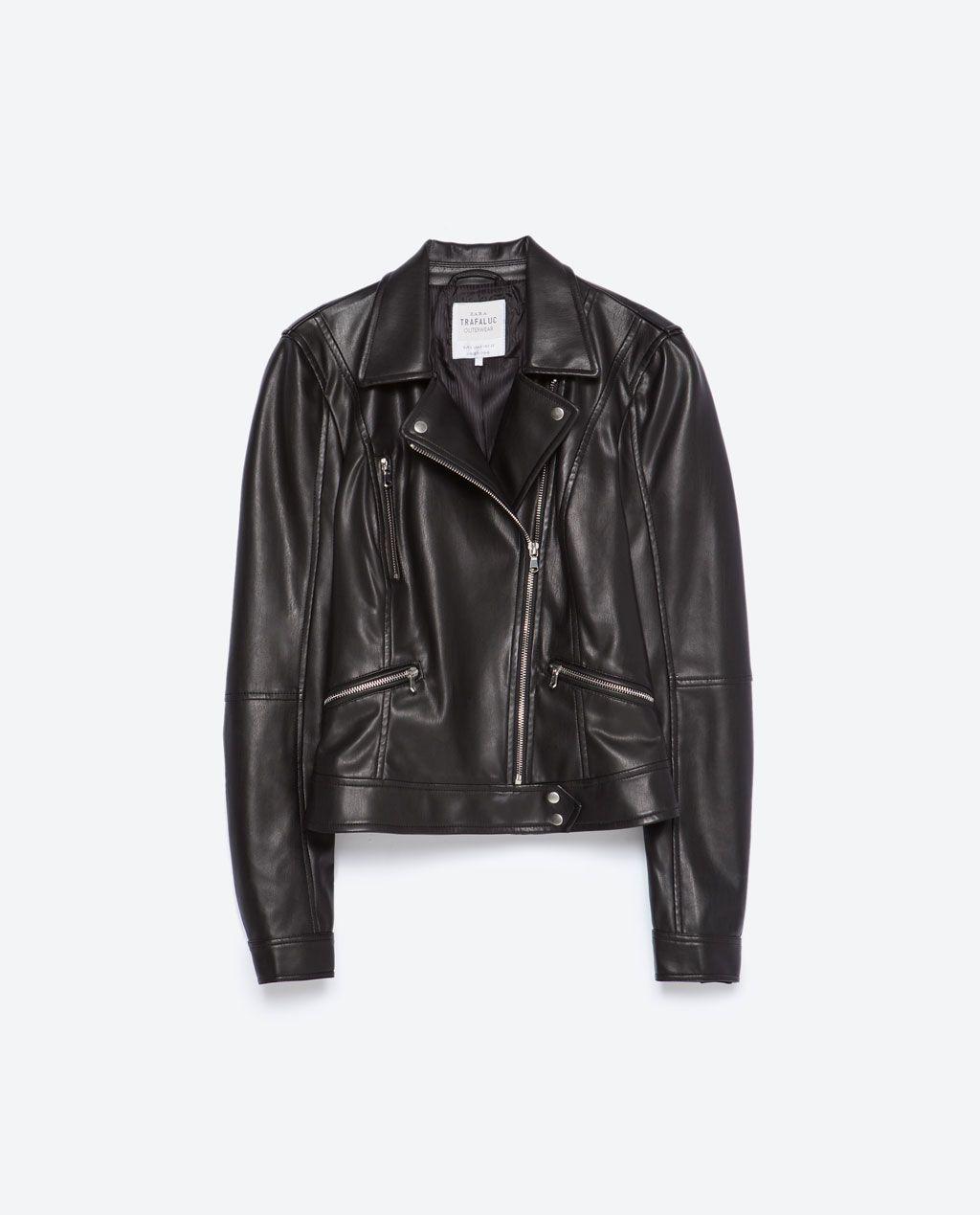 blouson de style motard vestes 20 femme zara france. Black Bedroom Furniture Sets. Home Design Ideas