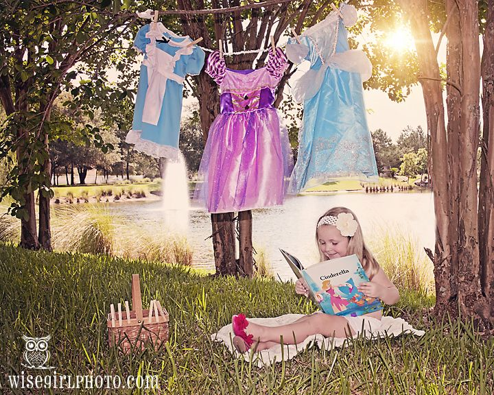 Every little girls dream... Princess Laundry Day by www.wisegirlphoto.com. Follow me on Facebook Wise Girl Design and Photography.