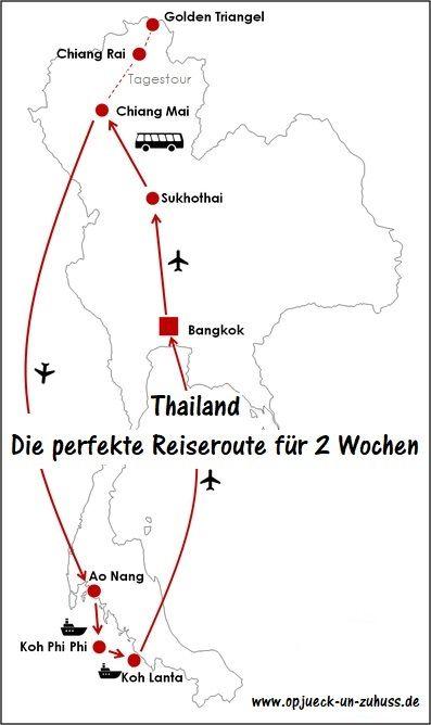 Itinerario Tailandia ida y vuelta 2 semanas