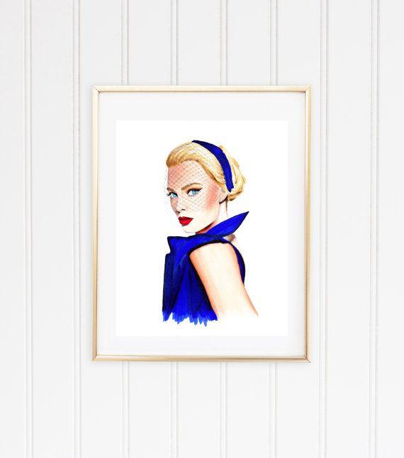Margot-Fashion Illustration art by NinaMidillustrations on Etsy