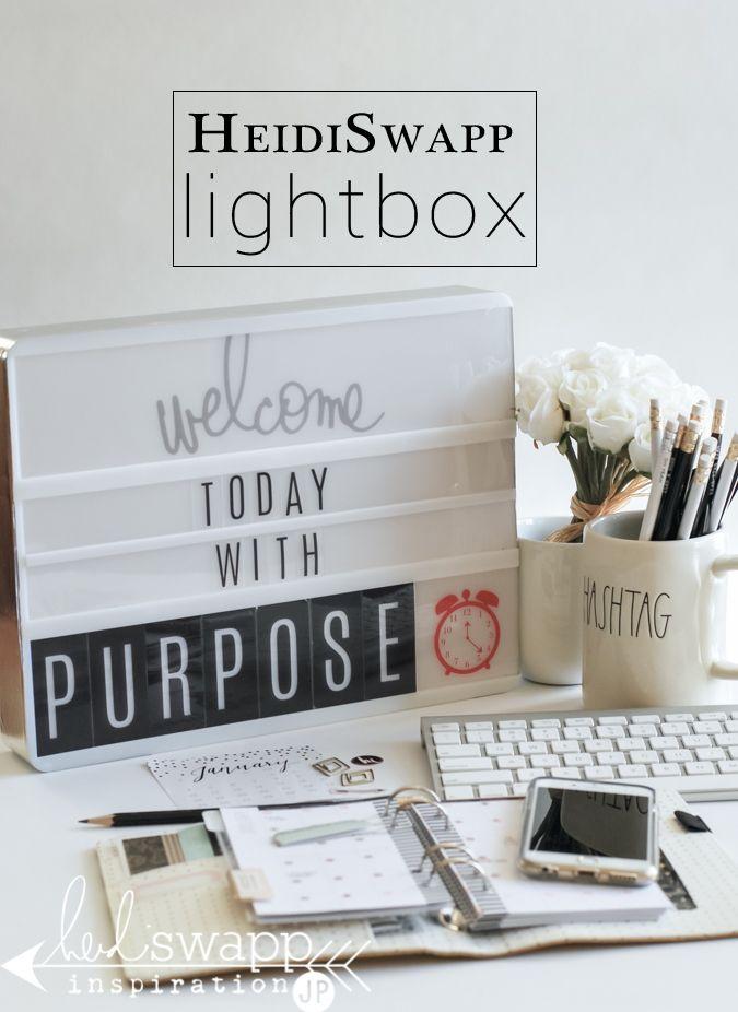 Heidi Swapp Lightbox being put to work in an office or desktop. @jamiepate for