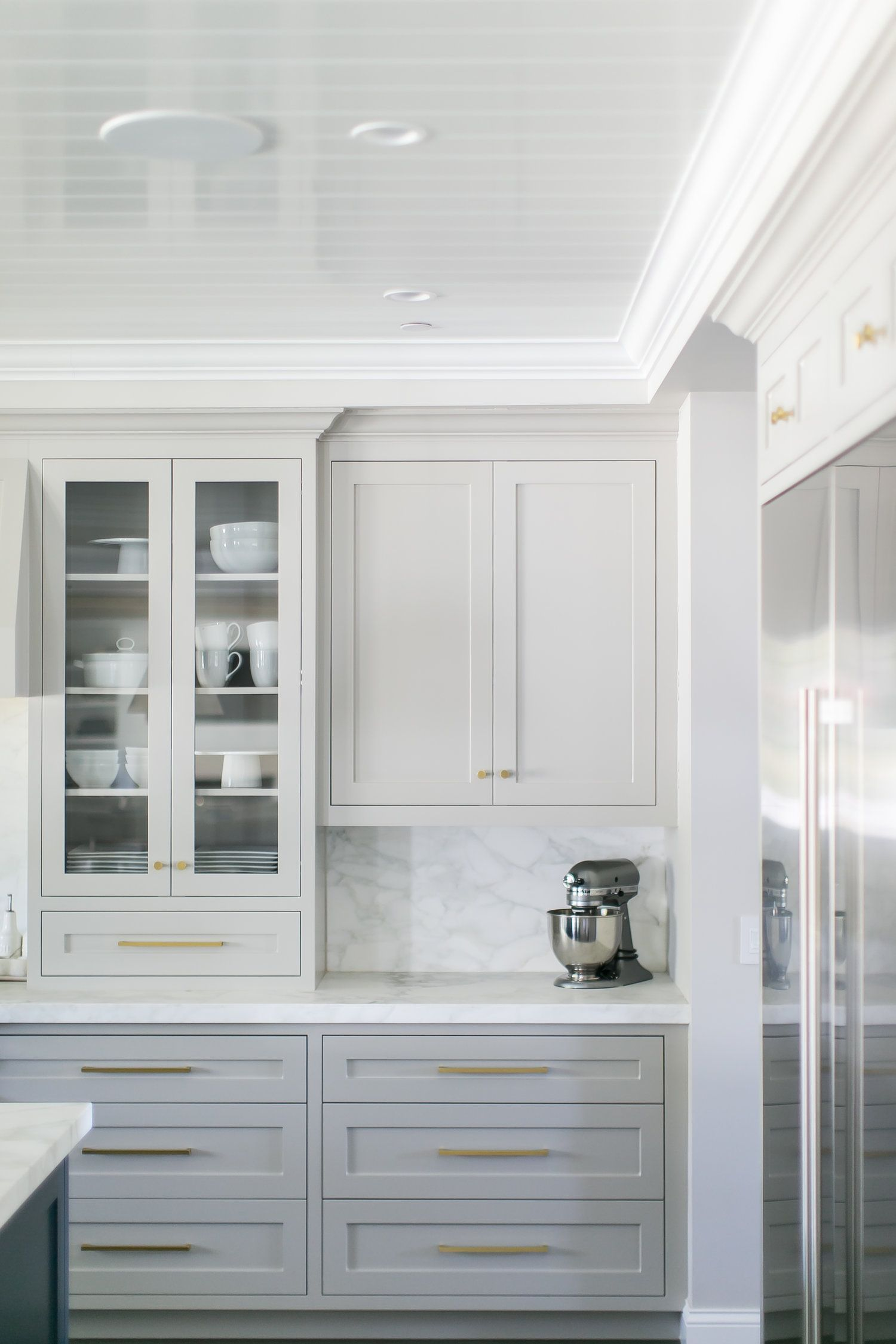 Marble Is A Everlasting And Timeless See That Is Totally Upon Trend Especially When A Painted Kitchen Cabinets Colors Kitchen Renovation Grey Kitchen Cabinets