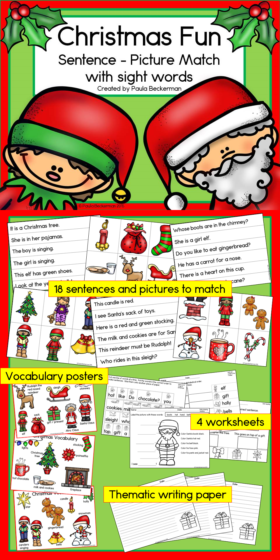 This fun, holiday themed reading activity will have your ...