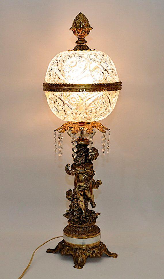 STUNNING Vintage Brass Cherub Lamp with by DooleyFritzVintage ...