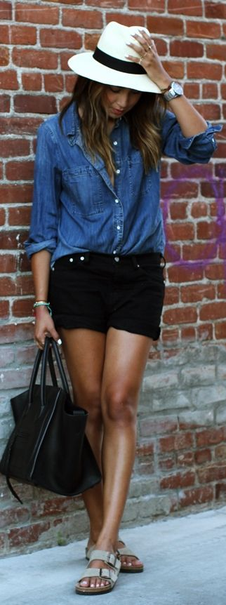 For my stylist: really like the complete outfit but shorts are a little too short for me