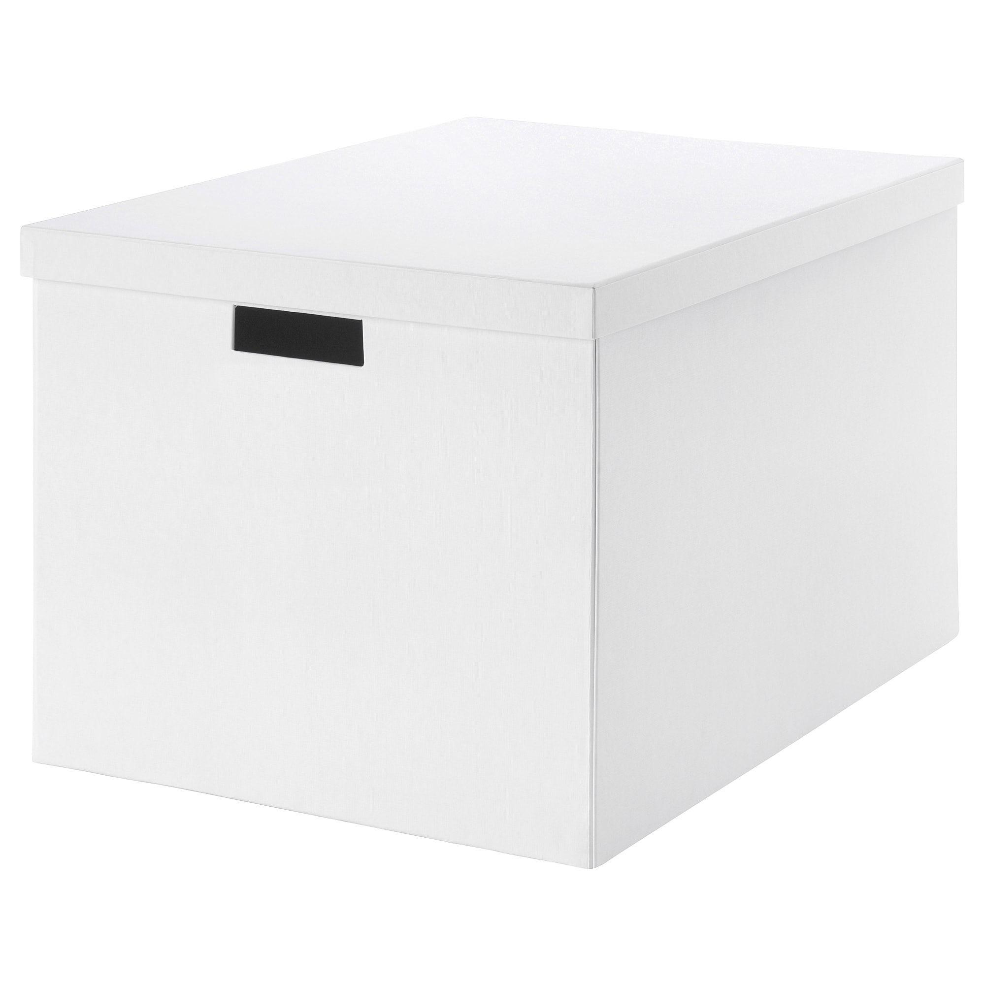 Tjena Storage Box With Lid White 13 X19 X11 Storage