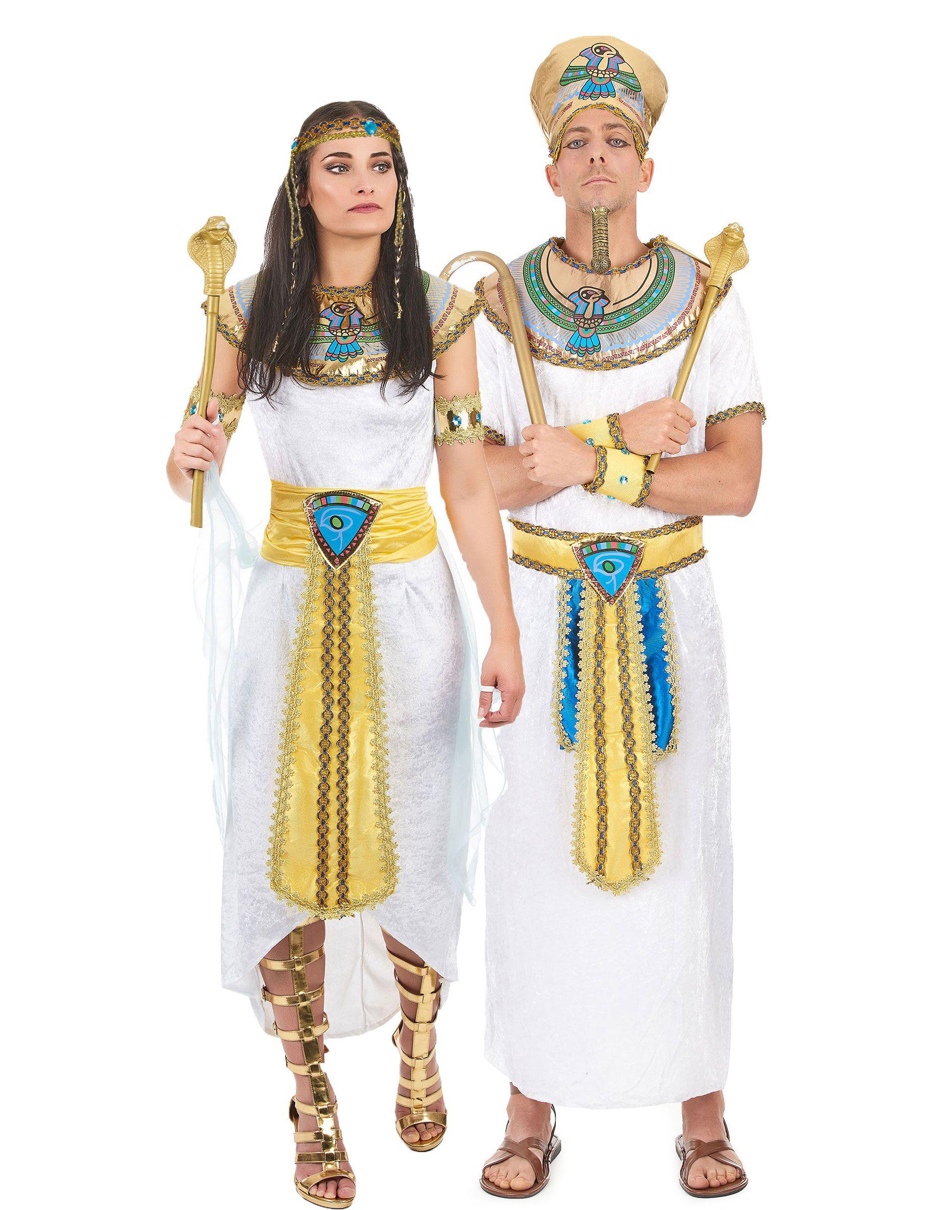 Costume coppia egiziana  Costume da regina egiziana donna Questo costume da  regina egiziana da donna 83643139e66