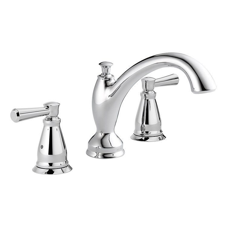 Delta T2793 Linden Two Handle 3 Hole Roman Tub Faucet Roman Tub