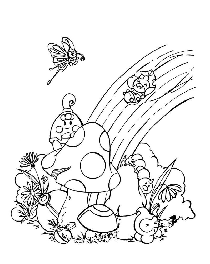 Rainbow Coloring Page Printable Pokemon Coloring Pages Butterfly Coloring Page Minion Coloring Pages [ 1001 x 798 Pixel ]