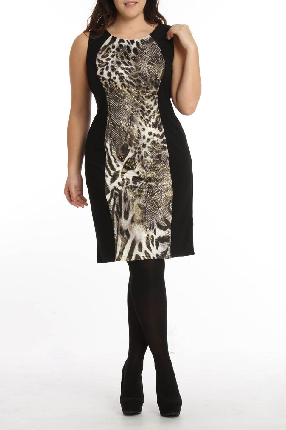 Rm richards alana dress in black and gold beyond the rack my