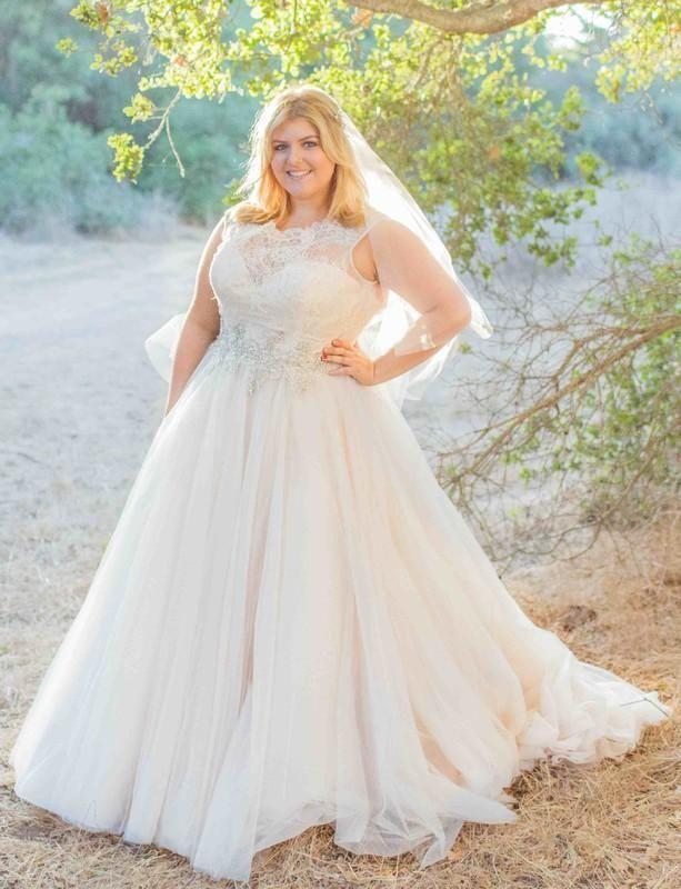 White Ivory Plus Size Bridal Gown Wedding Dress Custom Size 18 20 22 24 26 28 Plus Size Wedding Gowns Ball Gowns Wedding Wedding Dresses Plus Size