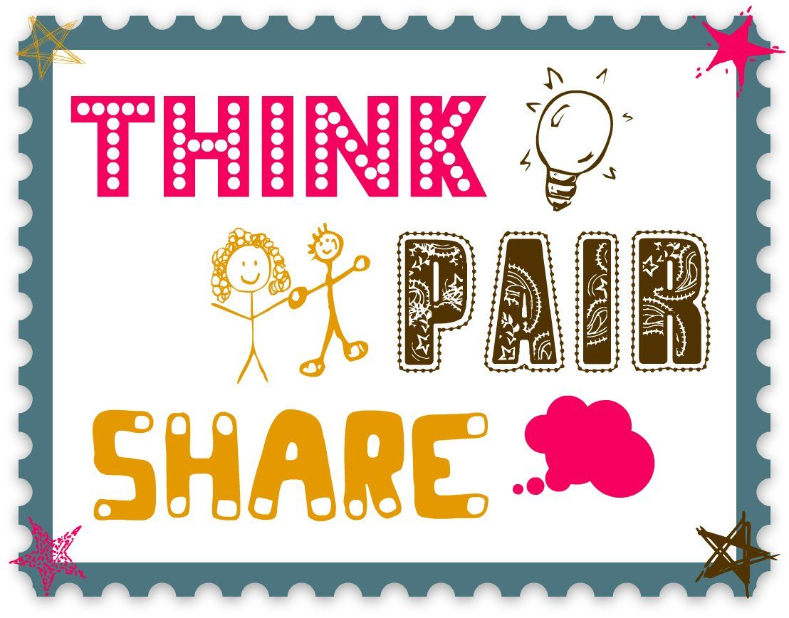 Printables Think Pair Share Worksheet 1000 images about modules on pinterest anchor charts cooperative learning and a video
