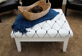 The Sassy Pepper: DIY: Poor Sad Coffee Table to Super Chic Ottoman