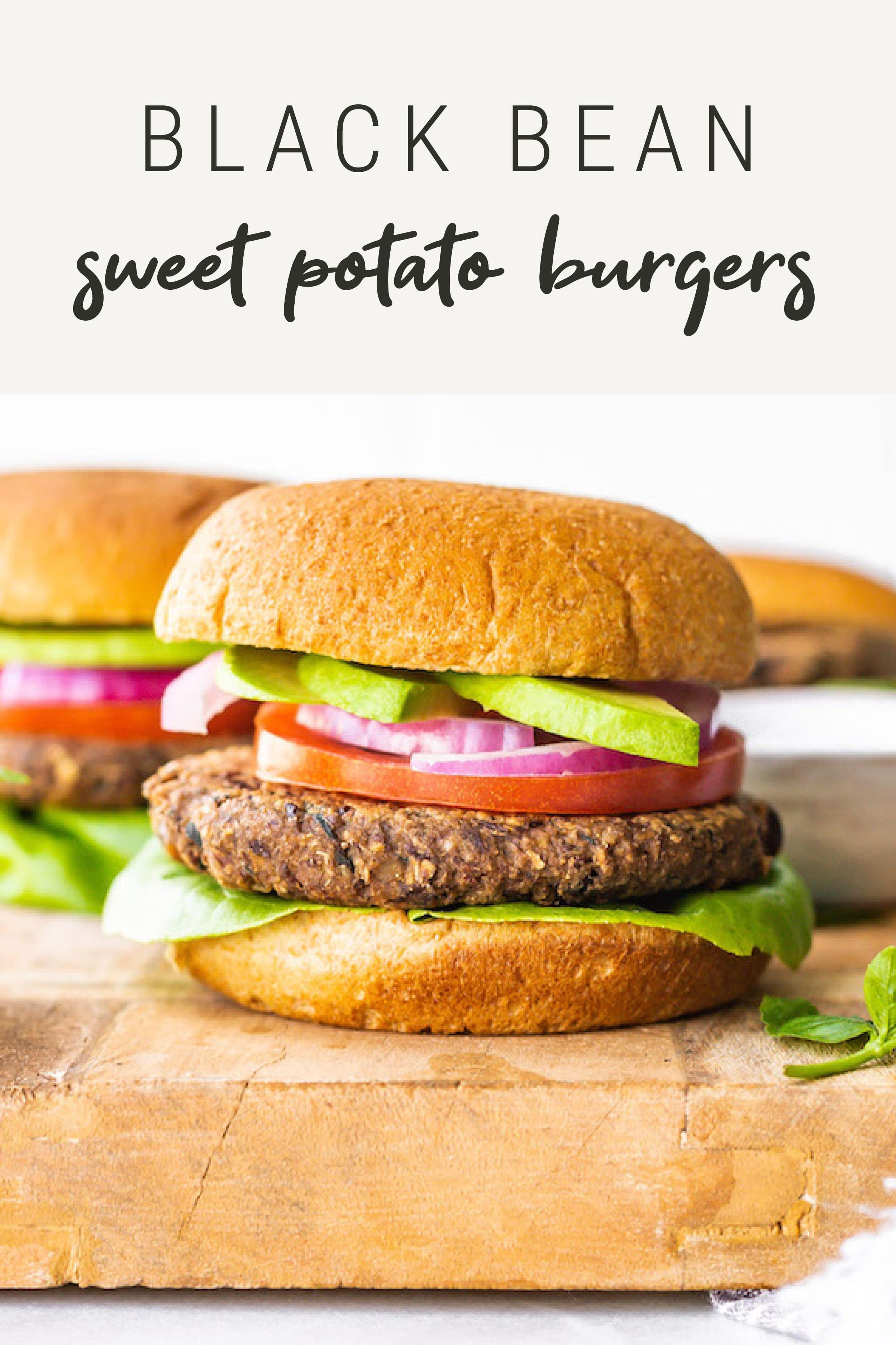 Black Bean Sweet Potato Burger Recipe Eating Bird Food Recipe In 2020 Sweet Potato Burgers Recipes Lunch Recipes Healthy