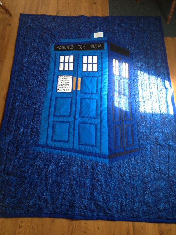 Dr Who Tardis Quilt By Summertimequilting On Etsy Quilts