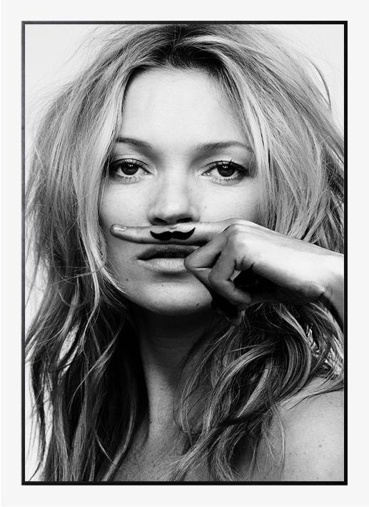 Kate moss life is a joke by lijst in poster from theposterclub com