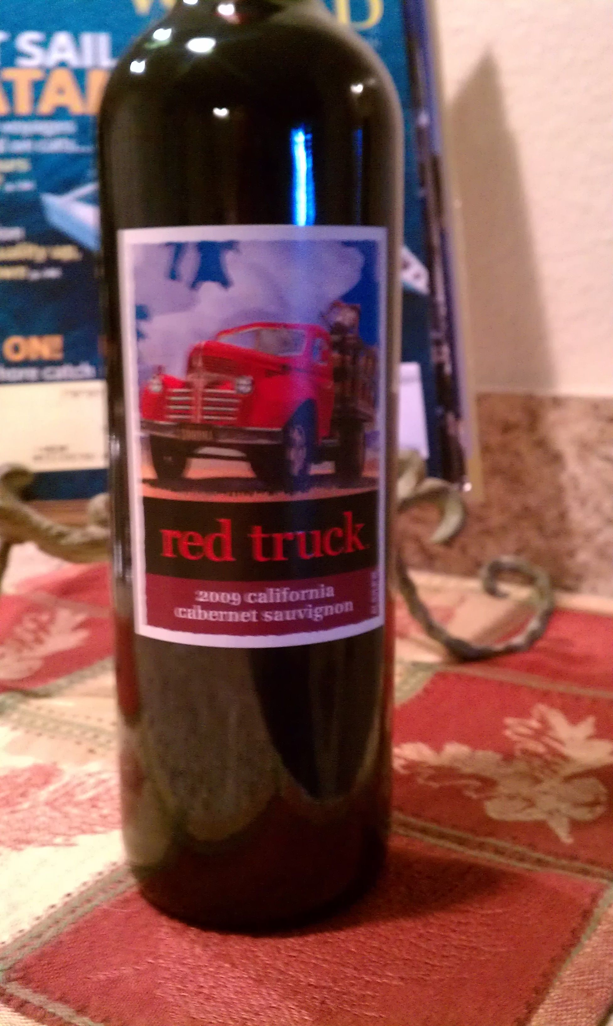 Red Truck Wine Red Truck Wine Bottle Wine Cooler