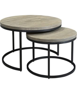 Best Drey Round Nesting Coffee Tables Set Of 2 In 2019 Round 400 x 300