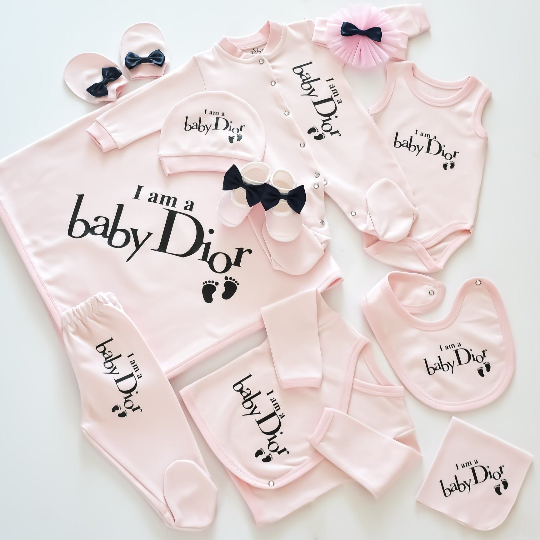 Baby CHANEL Inspired Newborn Baby Set  Baby dior, Baby chanel