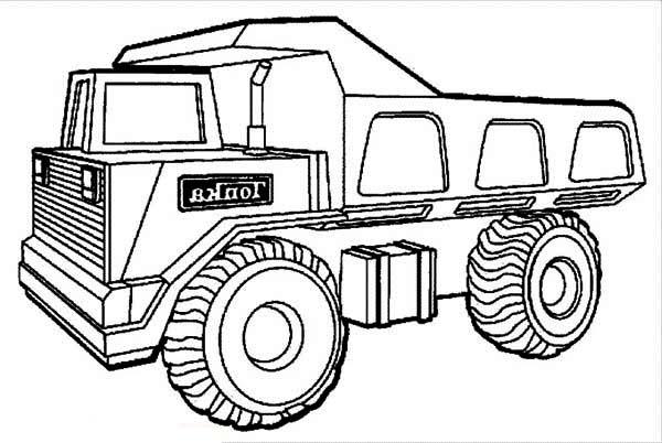 Huge Tonka Dump Truck Coloring Page Kids Play Color Truck Coloring Pages Monster Truck Coloring Pages Coloring Pages
