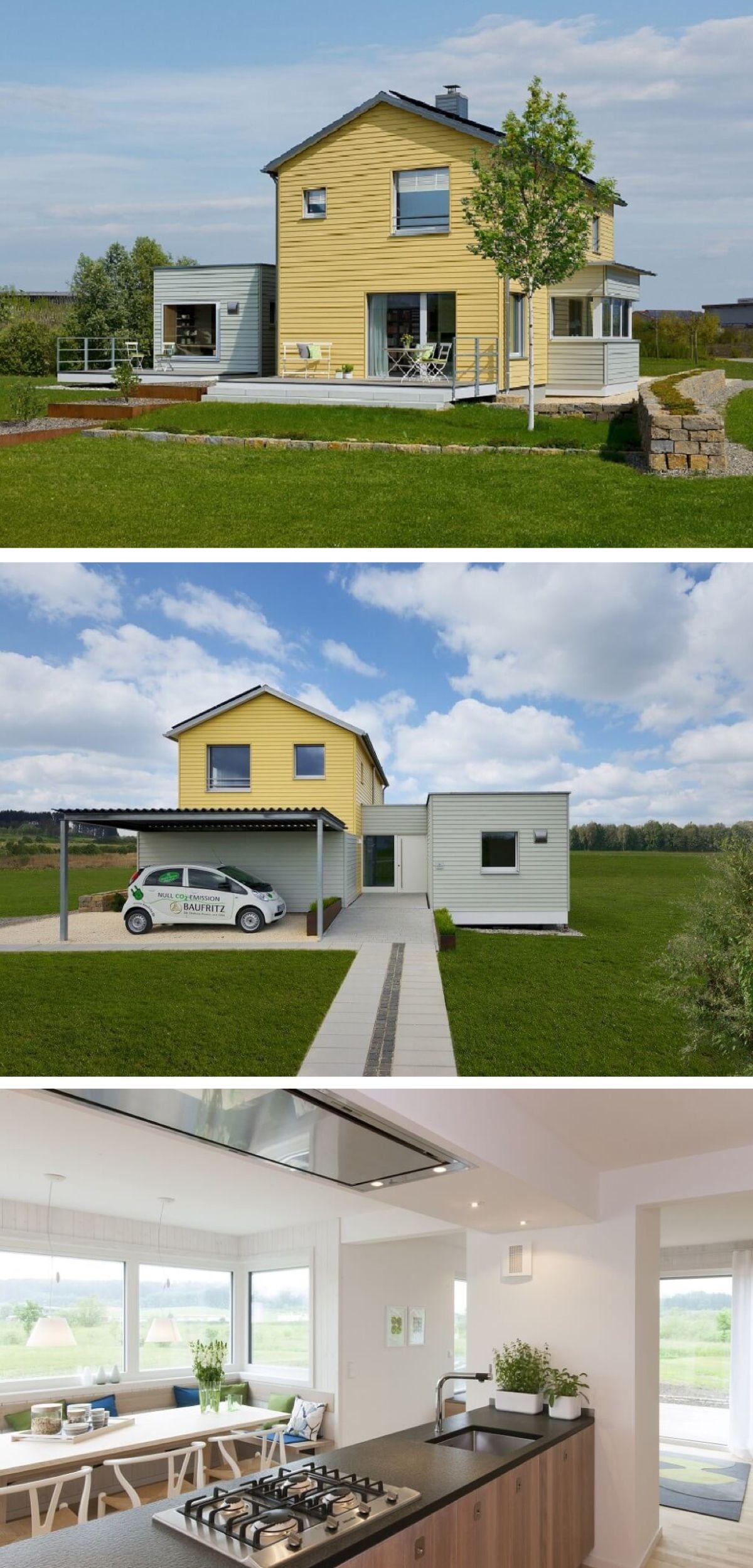 Skandinavisches Landhaus modern - Haus Planmit Entwurf S1 Baufritz ...