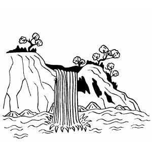 Waterfall Coloring For Kids Coloring Pages Fall Coloring Pages