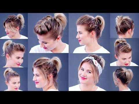 High Ponytail 10 Different Ways Milabu Youtube Short Hair Tutorial Ponytail Hairstyles Tutorial Short Hair Styles