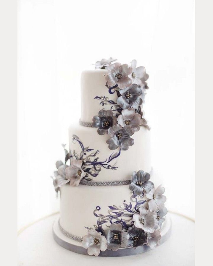 gray wedding cake glorious gray wedding cakes for 2015 grey weddings 14903