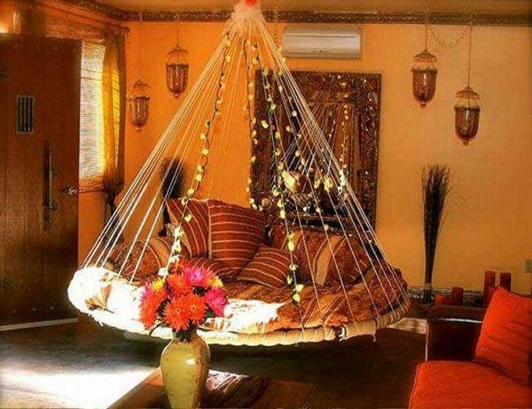 Le lit suspendu et ses modifications diff rents mille et une nuits deco chambre d co - Deco chambre orientale ...