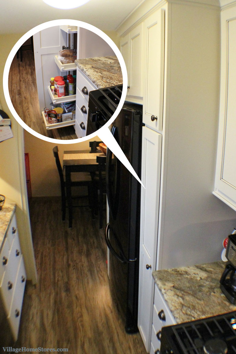 """A 15"""" wide #pantry #cabinet offers a lot of great storage ..."""