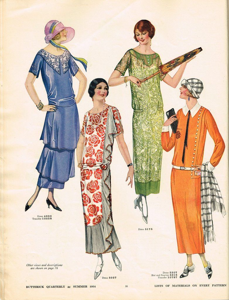 1920s Butterick Summer 1924 Quarterly Sewing Pattern Catalog 87 Pg Digital Download 1920s Fashion Women Fashion Through The Decades 1920s Fashion