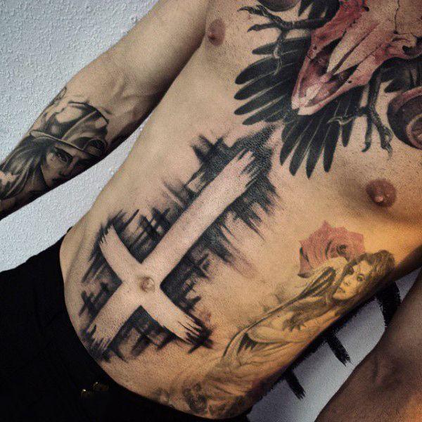 Tatuagem Masculina Na Barriga 9 Tatuagem Masculina Jovens