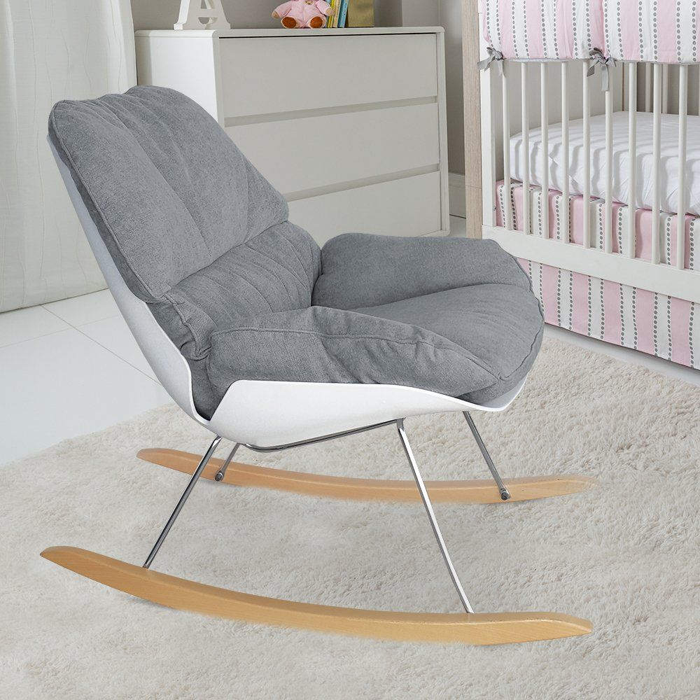 Wondrous Pkolino Nursery Rocking Chair Grey Be Sure To Check Out Theyellowbook Wood Chair Design Ideas Theyellowbookinfo
