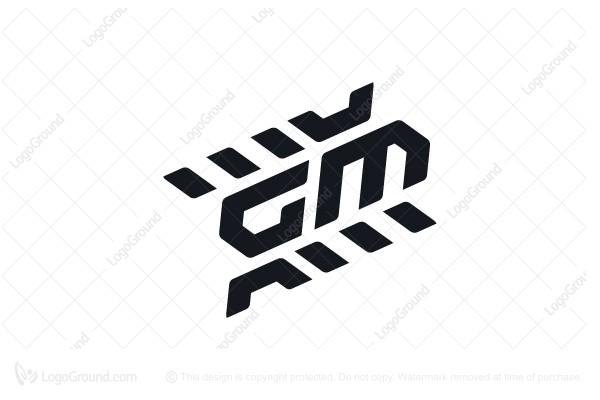 Exclusive Logo 175920, Letter Gm Logo Motorsports Logo