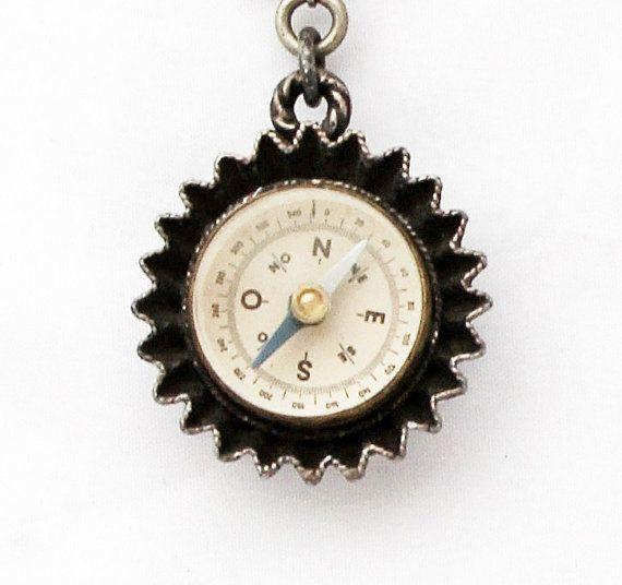 Vintage Compass Compass Charm Compass Pendant French Vintage Compass Jewelry Vintage Compass Vintage