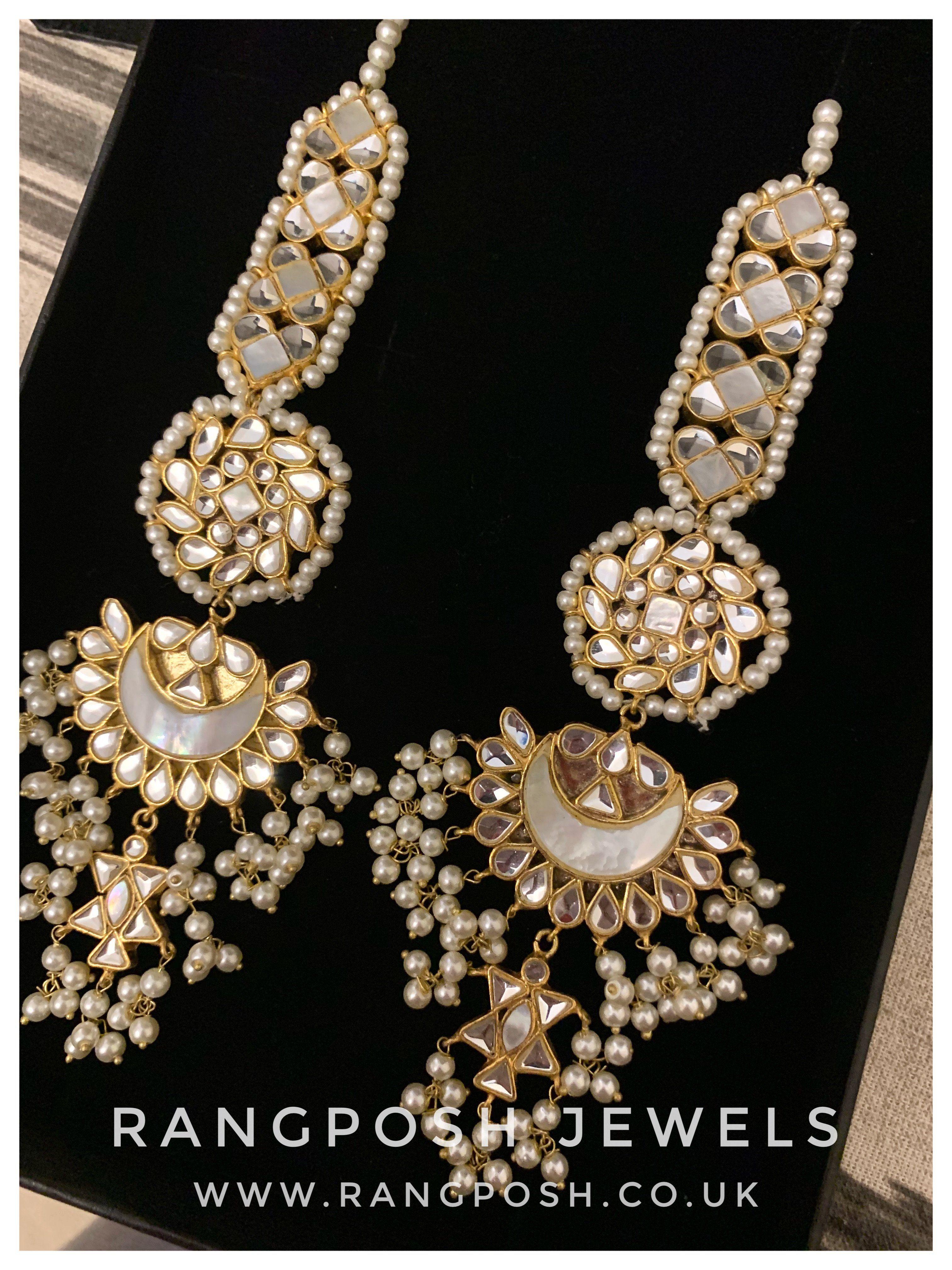 Anaar Kundan Earrings In 2020 Fashion Jewelry Earrings Kundan Earrings Temple Jewelry Necklace