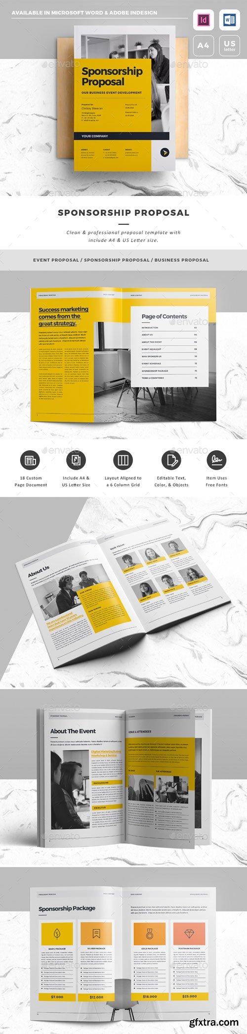 GraphicRiver - Sponsorship Proposal - 20166182 | Brochures ...