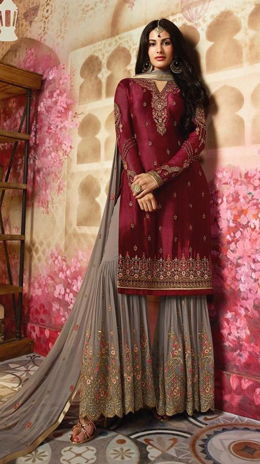 e38e03f254 Formal Wear Latest Sharara Designs 2018 HD Images | Indian in 2019 ...