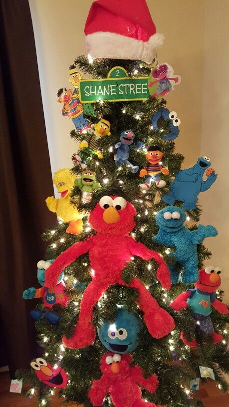 Sesame Street Themed Christmas Tree More - Sesame Street Themed Christmas Tree €� Christmas Decorations Pinte…