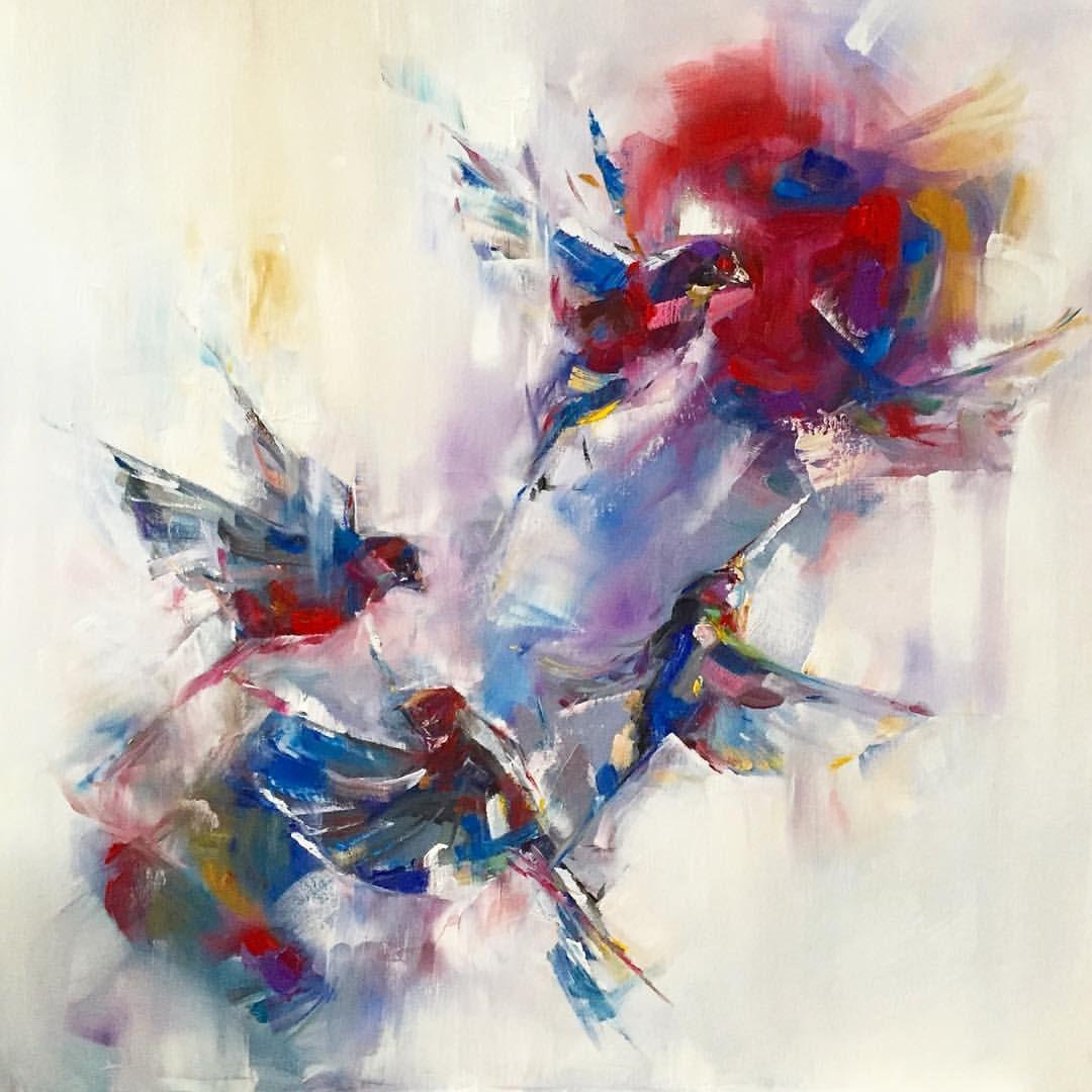 Abstract flying birds | María Álvarez E. ART | www ...