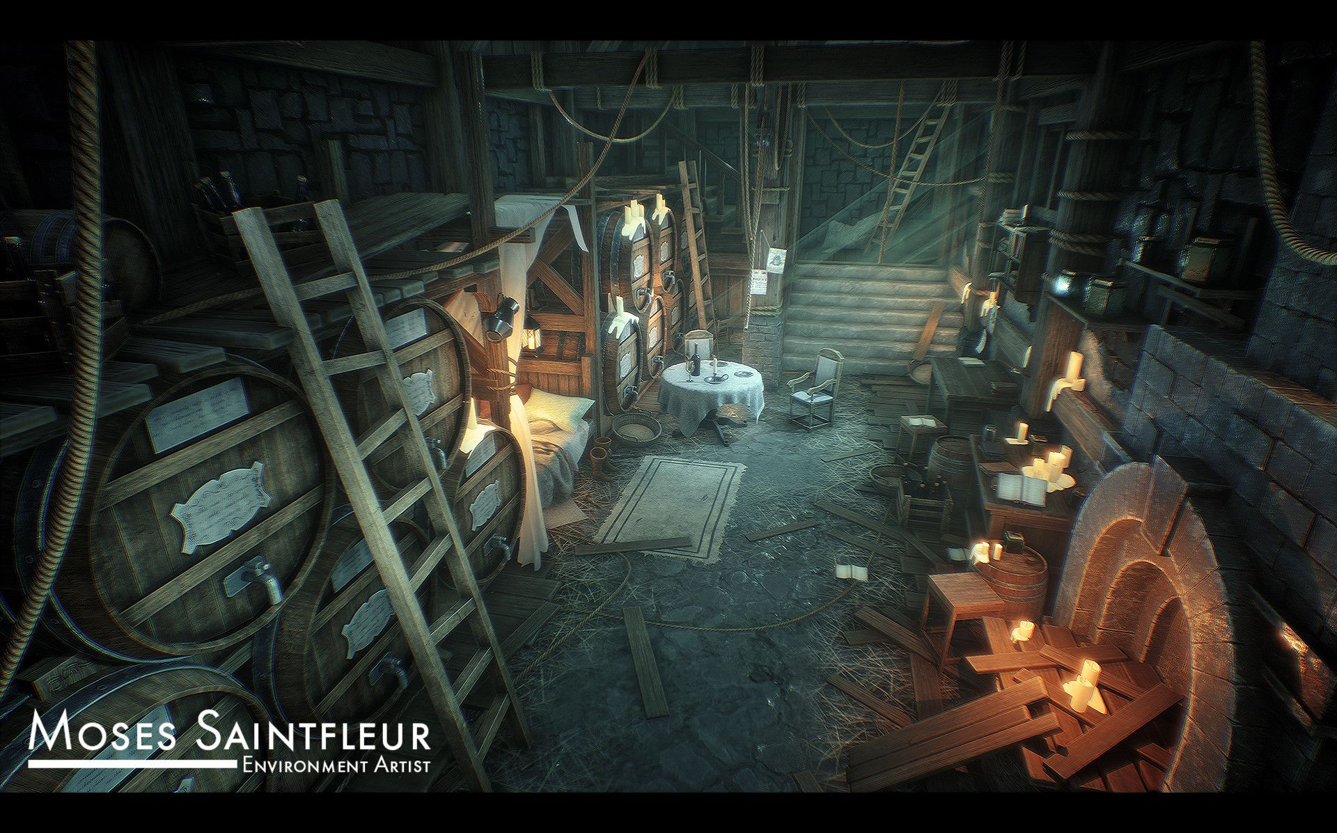 Artstation  Medieval Cellar, Moses Saintfleur - Game Development General