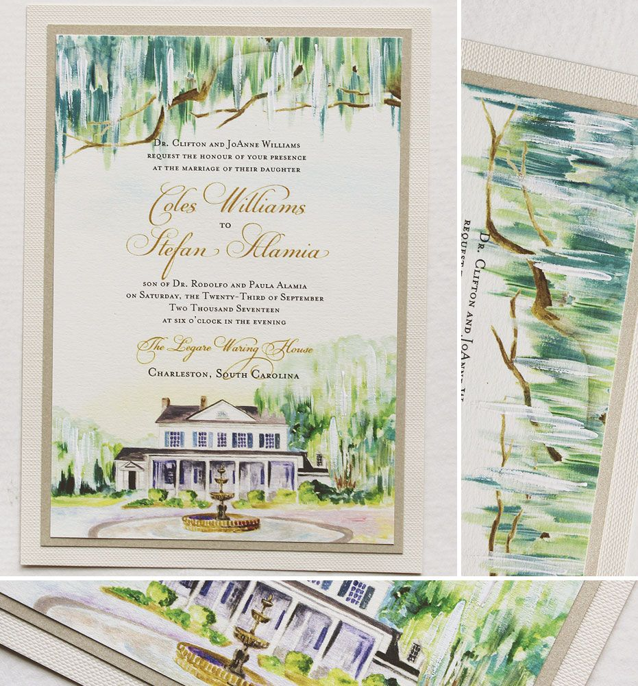 Hand Painted Wedding Stationery