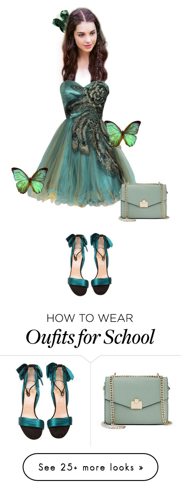 """""""Homecoming Style2"""" by maria-cccli on Polyvore featuring Kane, Jennifer Lopez, Christian Louboutin and Bodas"""