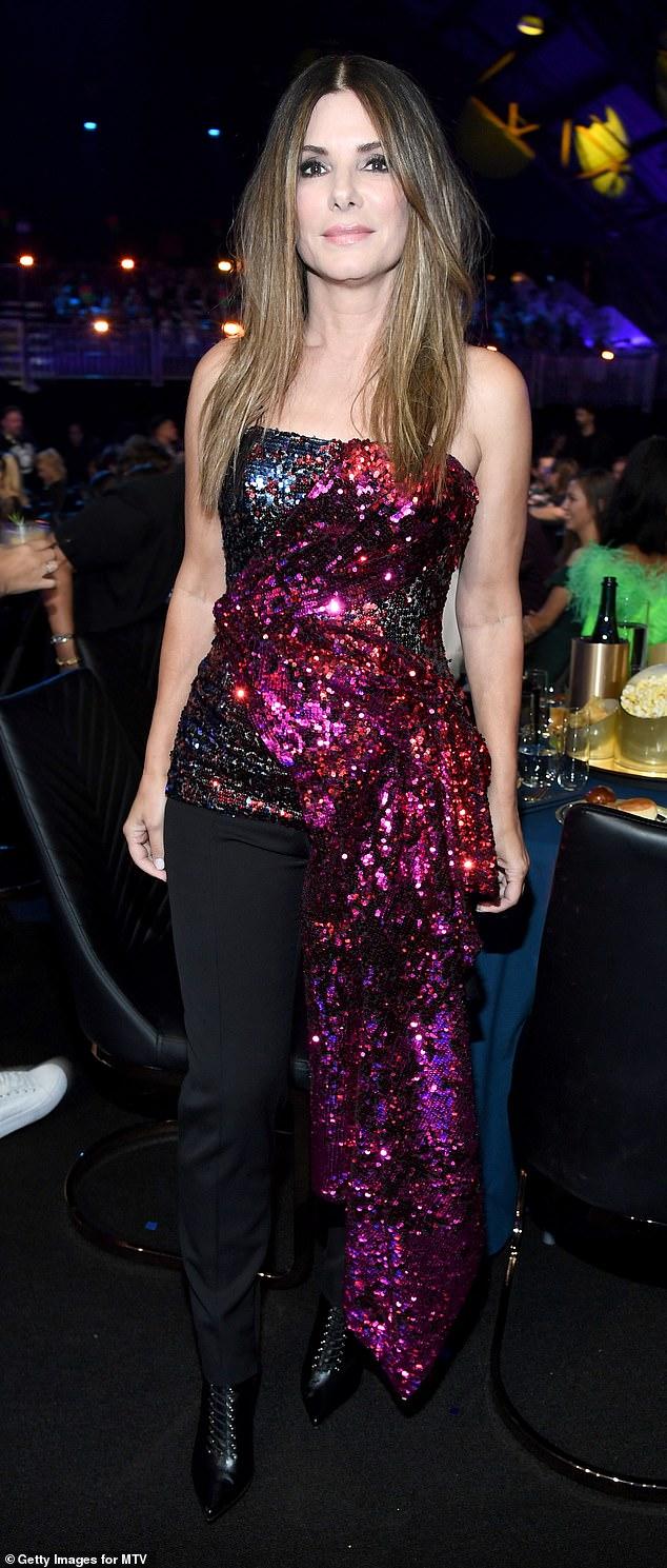 Sandra Bullock attends the 2019 MTV Movie Awards in L A