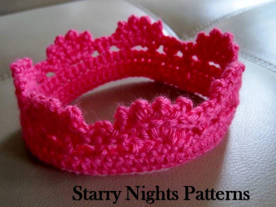 Crochet Princess Prince Crown Baby Headband