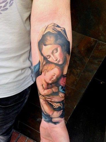 Matka Boska Z Dzieciątkiem Tattoo Tattoo Ideen