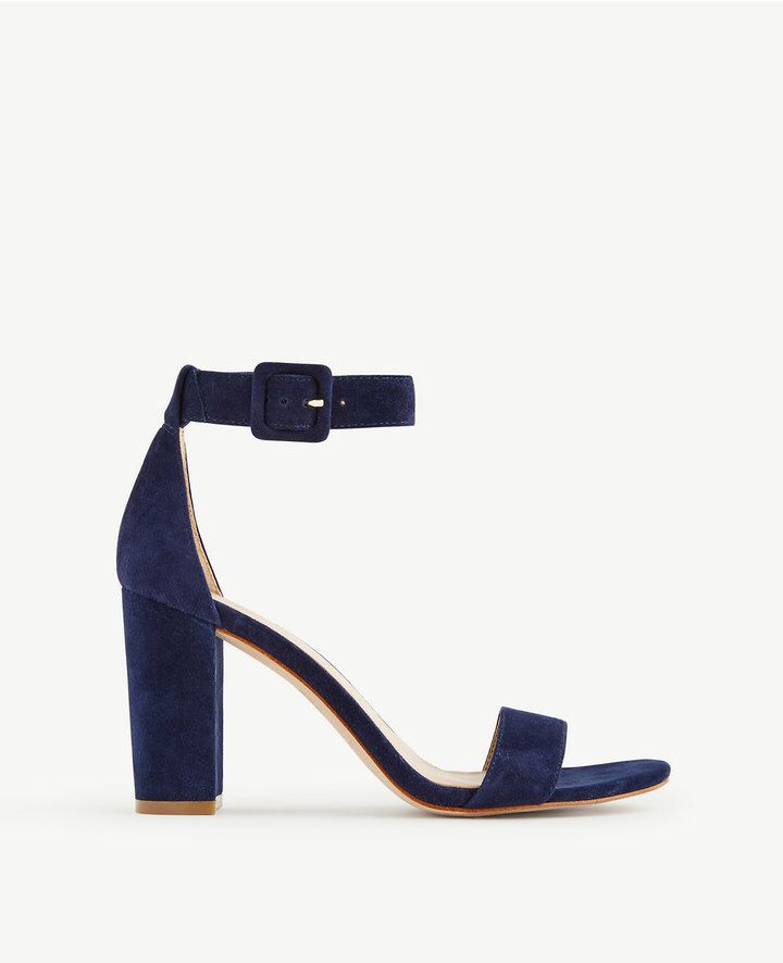 68ec41503b8 Leda Block Heel Sandals | F a s h i o n ~*~ in 2019 | Navy blue ...